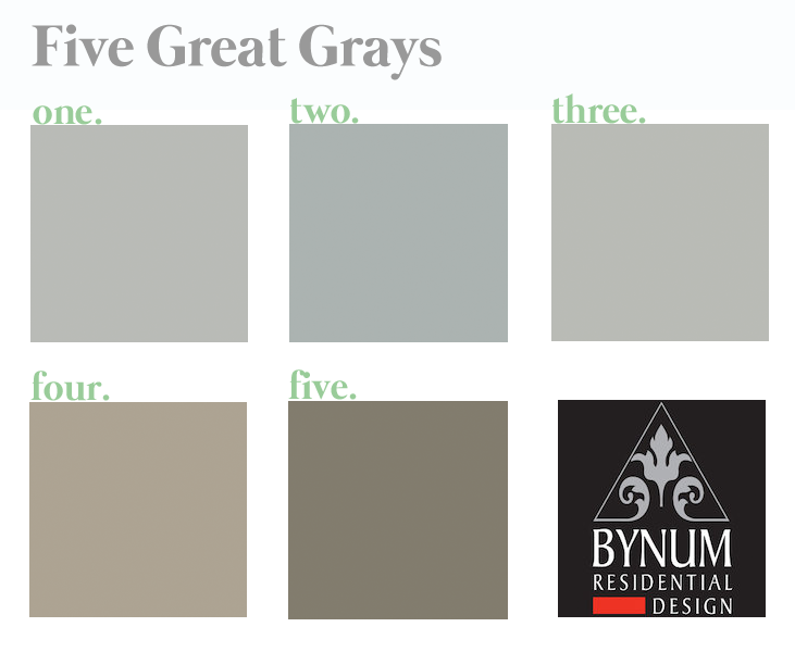 5 Great Gray Paint Colors Bynum Design Blog