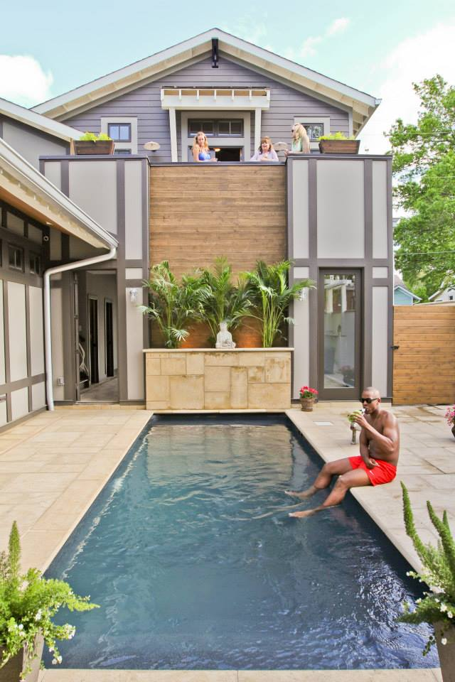 Courtyard with pool Bynum Design Nashville