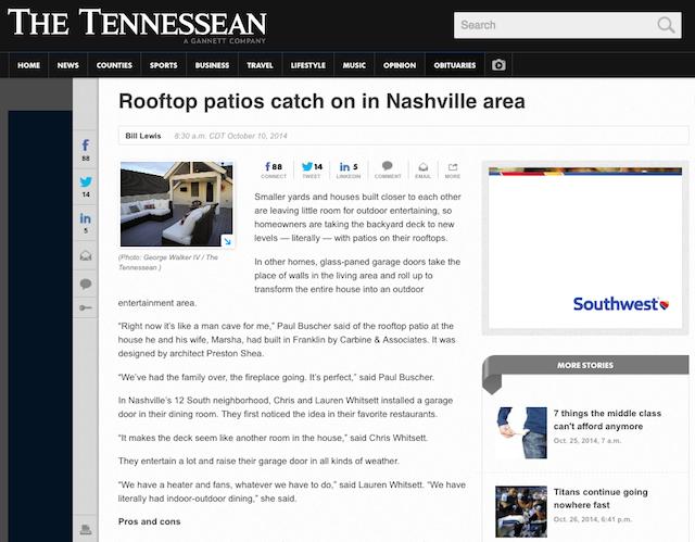Rooftop patios in Nashville Bynum Design