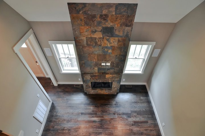 Bynum Design Nashville stone fireplace