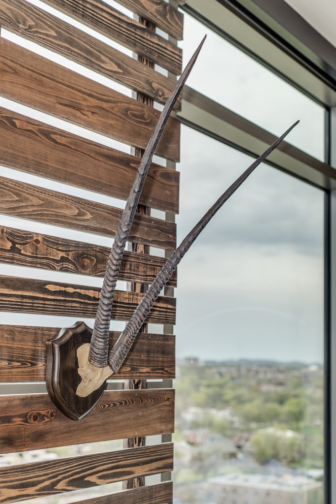 Bynum Design wood slat wall