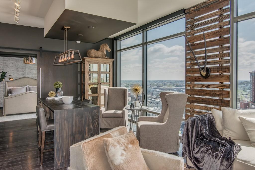 Bynum Design kitchen island condo Nashville
